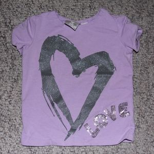 Koala Kids Purple T-Shirt with Heart & Love Design
